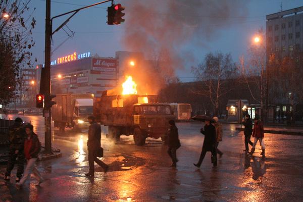 взрыв на пересечении ул. Немировича-Данченко и Геодезической